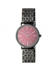 Lutetia watch in anthracite gray metal and burgundy dial 750125BO Lutetia 66,00 €