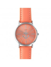 Lutetia orange dial watch with anchor and leather strap 750109OR Lutetia 49,90 €