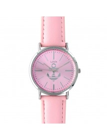 Lutetia pink dial watch with anchor and leather strap 750109RO Lutetia 49,90 €