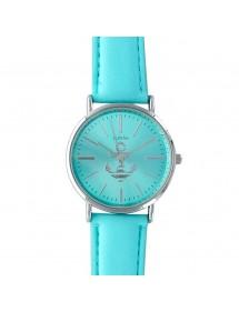 Reloj Lutetia turquesa con ancla y correa de piel. 750109TU Lutetia 49,90€