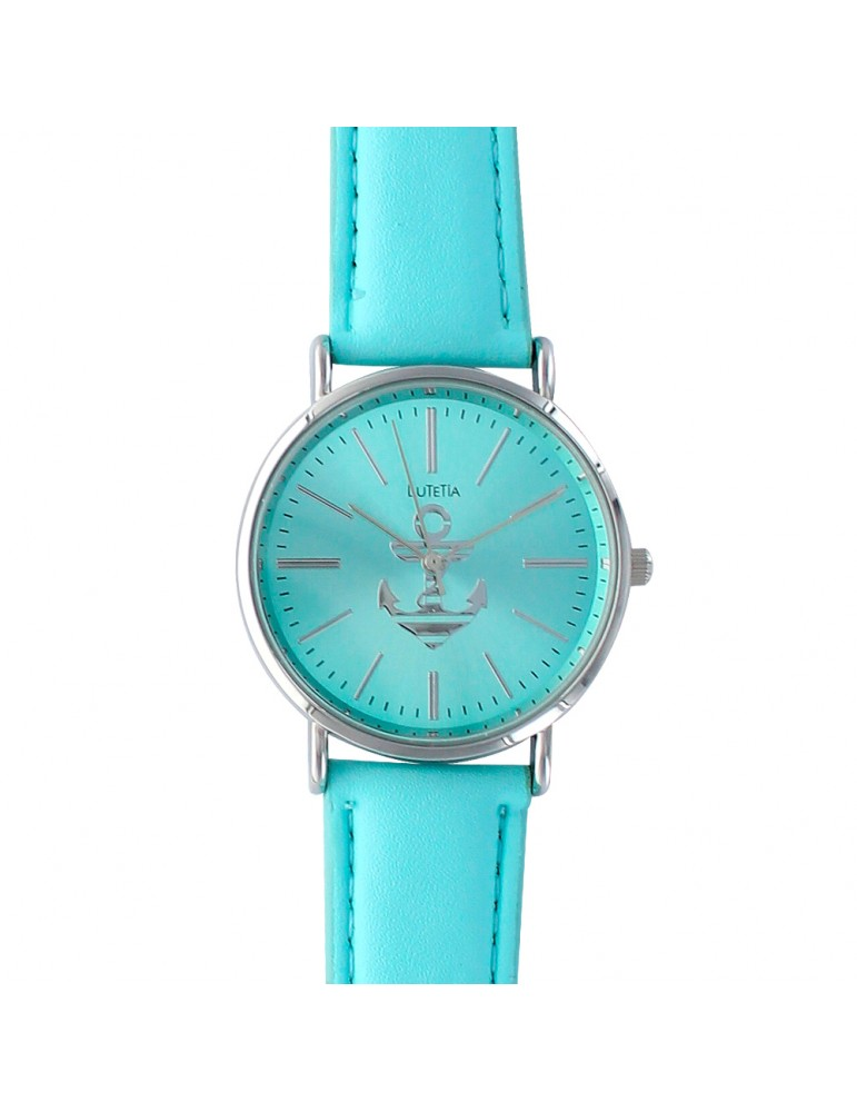 Lutetia turquoise watch with anchor and leather strap 750109TU Lutetia 49,90€
