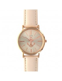 Lutetia watch beige pink dial and leather strap 750110BE Lutetia 49,90€