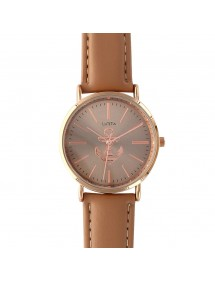 Brown Lutetia watch with pink dial and leather strap 750110M Lutetia 49,90 €
