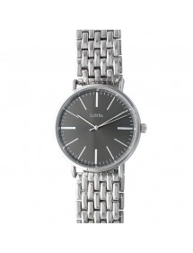 Lutetia watch in silver color metal and black dial 750125 Lutetia 66,00€