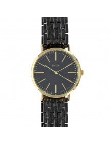 Lutetia watch in black metal and gold case, folding clasp 750125DN Lutetia 66,00€