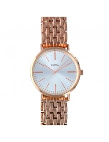 Lutetia watch in pink metal and white dial, folding clasp 750125DR Lutetia 66,00€