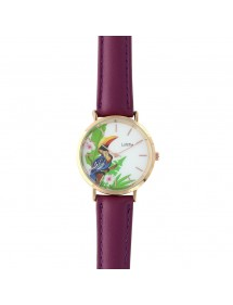 Lutetia toucan watch, purple synthetic bracelet 750140V Lutetia 59,90 €