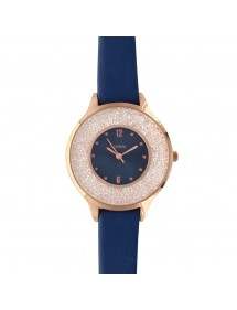 Lutetia navy blue watch, pink gold metal case, dial with stones 750128BM Lutetia 59,90€