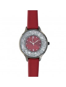 Burgundy Lutetia watch, anthracite gray case, dial with stones 750128BO Lutetia 59,90 €