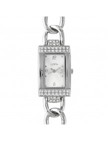 Lutetia watch metal case with rhinestones and curb bracelet 750116 Lutetia 86,00€