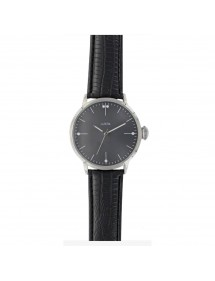 Lutetia men's watch, black dial and black crocodile strap 750148SN Lutetia 54,90 €