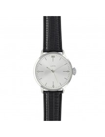 Lutetia watch, silver-colored dial and black crocodile-look strap 750148SA Lutetia 54,90 €