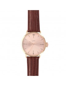 Lutetia watch, pink gold dial and brown crocodile strap 750148DRR Lutetia 54,90 €