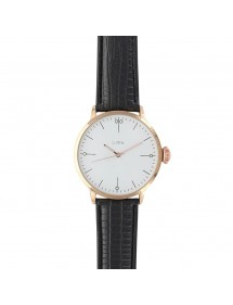Lutetia watch, pink metal case and black crocodile strap 750148DRB Lutetia 54,90 €