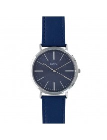 Lutetia watch, metal case, navy blue calf leather strap 750127BM Lutetia 49,90 €