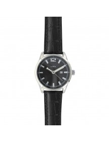 Lutetia watch with dato, metal case, black crocodile strap 750149SN Lutetia 79,90 €