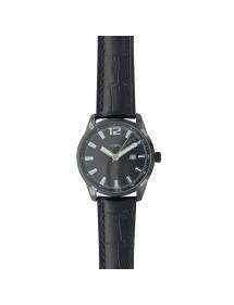 Montre Lutetia avec dato, boitier noir, bracelet noir aspect croco 79,90€ 79,90€