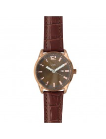 Lutetia men's watch, dato, brown crocodile look 750149MM Lutetia 79,90 €