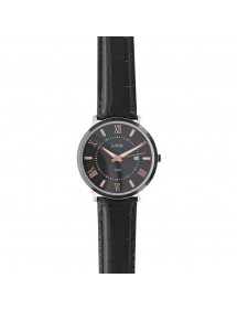 Lutetia men's watch, Roman numerals, black strap, waterproof 50 m 750151SN Lutetia 99,90 €