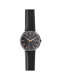 Reloj Lutetia para hombre, números romanos, correa negra, resistente al agua 50 m. 750151SN Lutetia 119,00€