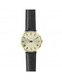 Lutetia men's watch, Roman numerals, gold case, waterproof 50 m 750151DCH Lutetia 99,90 €