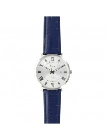Lutetia men's watch, Roman numerals, blue bracelet, waterproof 50 m 750151SB Lutetia 99,90 €