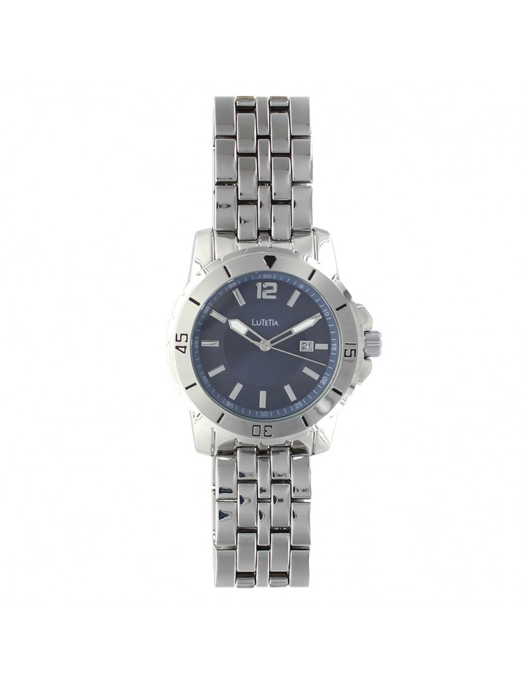 Lutetia man's watch case and metal strap, blue dial 750152SB Lutetia 99,00€