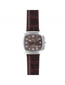 Lutetia watch, metal cushion case, brown crocodile strap 750147SM Lutetia 69,90 €