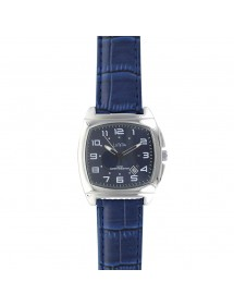 Lutetia watch, metal cushion case, blue croco strap 750147SB Lutetia 69,90 €
