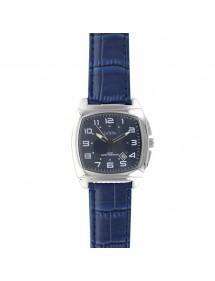 Montre Lutetia boîtier coussin métal, bracelet bleu aspect croco 750147SB Lutetia 69,90€