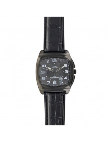 Lutetia watch, black metal cushion case, black crocodile strap 750147NN Lutetia 69,90 €