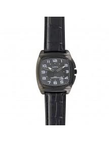 Montre Lutetia boîtier coussin métal noir, bracelet noir aspect croco 750147NN Lutetia 69,90€