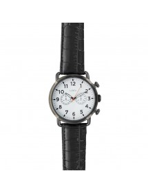 Lutetia watch, black metal case, white dial, decorative chrono 750150NB Lutetia 59,90 €