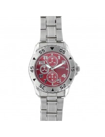 Lutetia men's watch, metal case and bracelet, burgundy dial 750113BO Lutetia 59,90 €