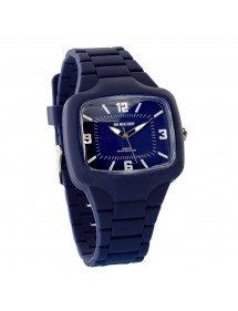One Man Show watch, rectangle, navy blue silicone bracelet 752640BL One Man Show 29,90 €