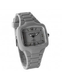 One Man Show watch, rectangle, gray silicone bracelet 752640G One Man Show 29,90 €