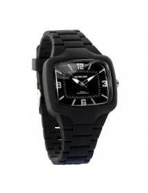 One Man Show watch, rectangle, black silicone strap 752640N One Man Show 29,90 €