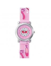 DOMI educational watch, Dance pattern, pink silicone bracelet 753955 DOMI 29,90 €