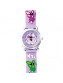 DOMI Lernuhr, Fairy-Muster, lila Silikonarmband 753956 DOMI 39,90€