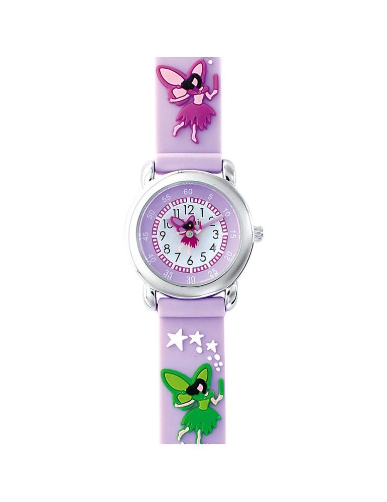DOMI educational watch, fairy pattern, purple silicone bracelet 753956 DOMI 39,90€