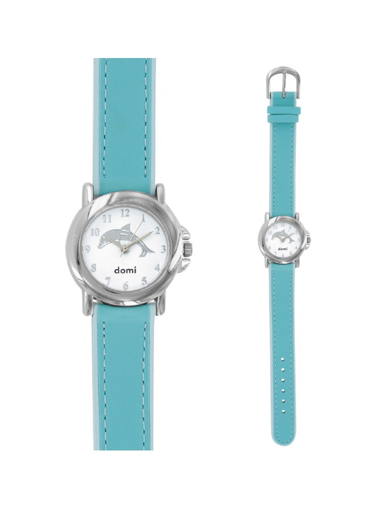 copy of DOMI pedagogical watch with dolphin motif, blue synthetic bracelet 753894BA DOMI 39,90€