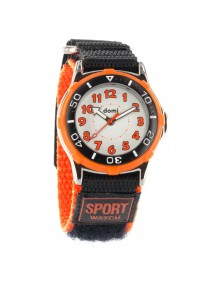 DOMI watch with metal case, orange and black velcro strap 29,90 € 29,90 €