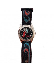 Montre Hot Wheels surfeur boitier métal, bracelet effet jean bleu foncé 14,90€ 14,90€
