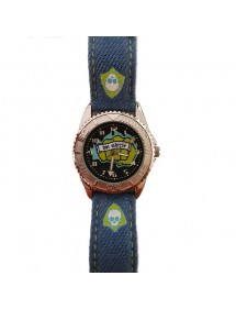 Montre Hot Wheels boitier métal, bracelet synthétique effet jean bleu 14,90€ 14,90€