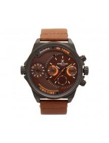 Montre homme Daniel Klein Exclusive à cadran marron, bracelet cuir 89,90€ 89,90€