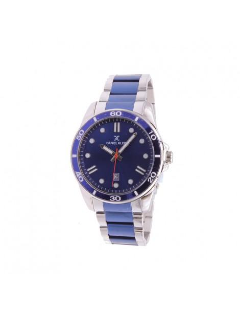 Montre homme Daniel Klein Premium, bracelet argenté et bleu DK11752-2 Daniel Klein 89,90€