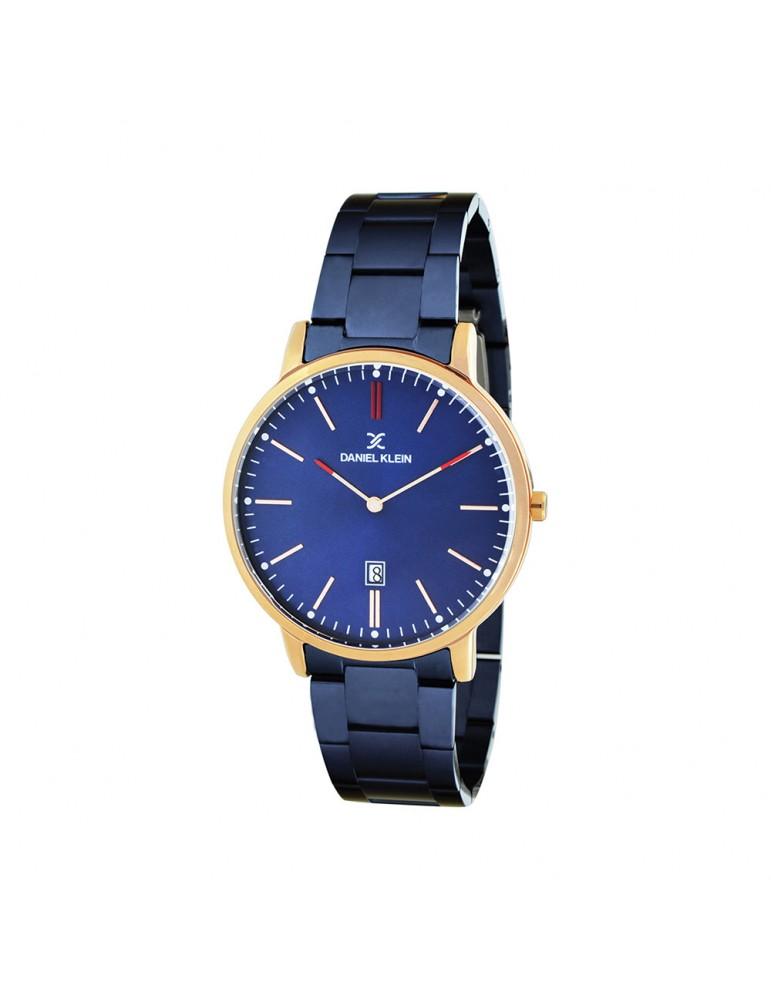 Montre homme Daniel Klein Fiord, boitier doré rose, bracelet bleu 79,90€ 79,90€