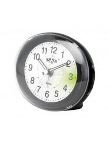Réveil LAVAL ovale noir à quartz avec lumière verte et fonction snooze 18,00€ 18,00€