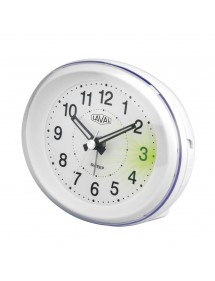 LAVAL clock, oval white quartz with green light and snooze function 800151 Laval 1878 18,00 €