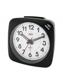 LAVAL Black Silent Quartz Alarm Clock, Blue Light and Snooze Function 800155N Laval 1878 19,90 €